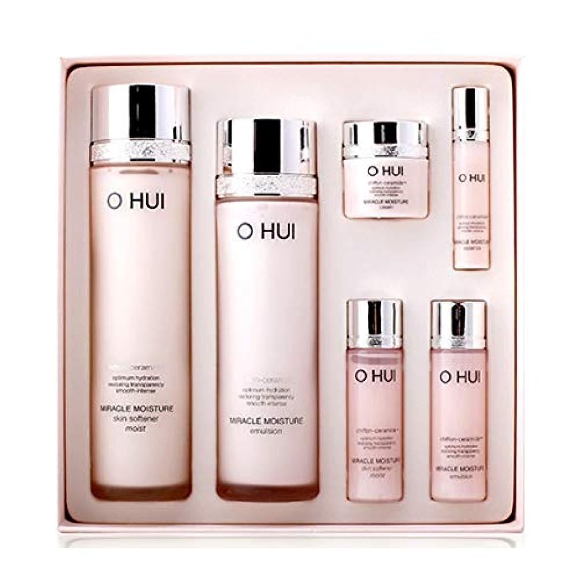 現実的テメリティ名誉オフィミラクルモイスチャースキンソフナーエマルジョンセット韓国コスメ、O Hui Miracle Moisture Skin Softener Emulsion Set Korean Cosmetics [並行輸入品]