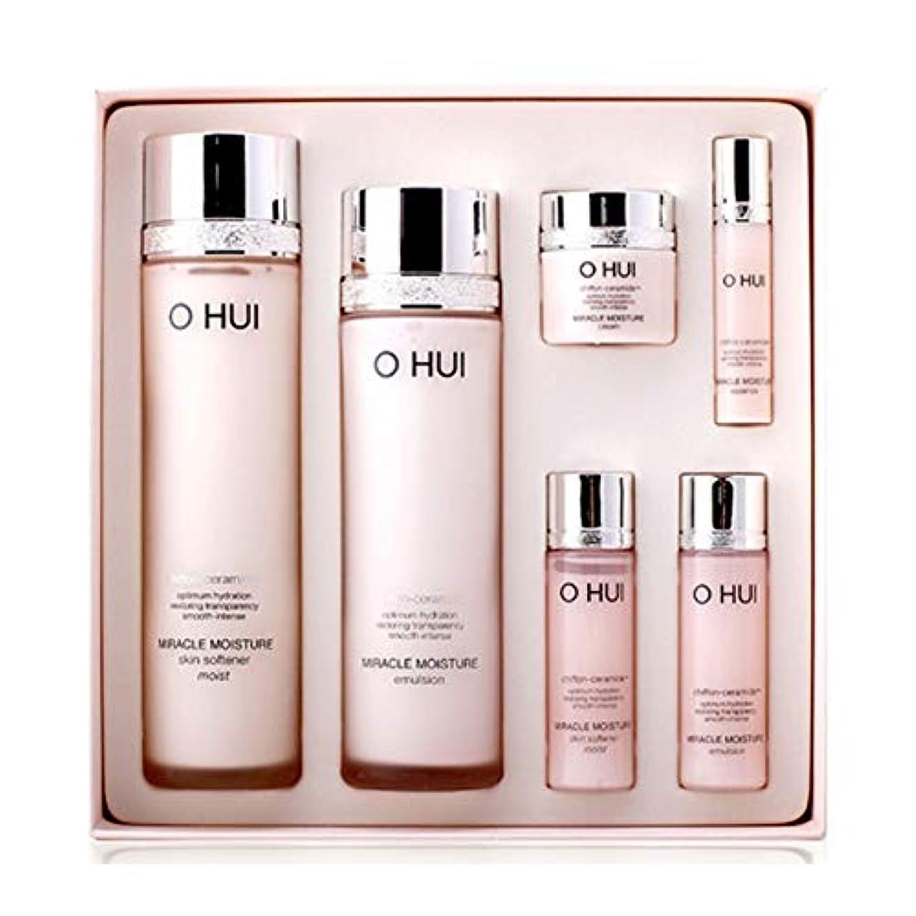 オフィミラクルモイスチャースキンソフナーエマルジョンセット韓国コスメ、O Hui Miracle Moisture Skin Softener Emulsion Set Korean Cosmetics [並行輸入品]