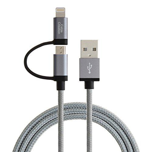 Apple認証CableCreation 2in1ライトニングUSBケーブル...