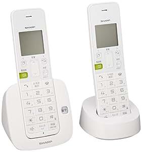 シャープ デジタルコードレス電話機 子機1台付き 1.9GHz DECT準拠方式 ホワイト系 JD-S07CW-W