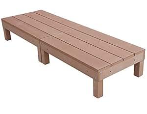 igarden アイガーデン アイウッドデッキ60系2点セットナチュラル アイガーデンオリジナル人工木ウッドデッキ、樹脂木、木樹脂、プラウッド、ウッドデッキセット、木製デッキ、縁台