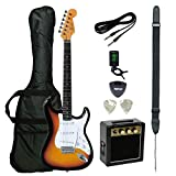 【Amazon.co.jp 限定】K-GARAGE エレキギターセット STタイプ KST-150 初心者入門用ミニアンプセット KST-150 3TS RMS SET