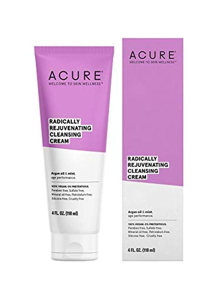 固める輸血フィクションACURE社 Facial Cleansing Creme Argan Oil + Mint 4オンス
