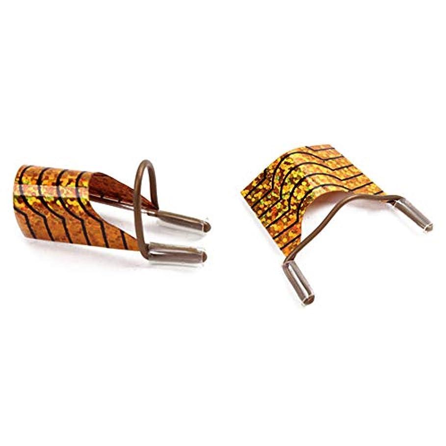 キャンベラ競う誤解を招く5つのカスタム偽の爪の延長片傷の練習/表示ツールの金を防ぐために、スリムスパンコールパッチ
