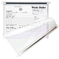 Store SMART - 透明ハンギングファイルフォルダー 2つの頑丈な金属ロッド付き - 50パック - RHF231C-50