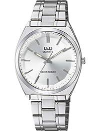 [シチズン キューアンドキュー]CITIZEN Q&Q 腕時計 アナログ クラシック 日常生活防水 ブレスレット シルバー QB78-201 メンズ
