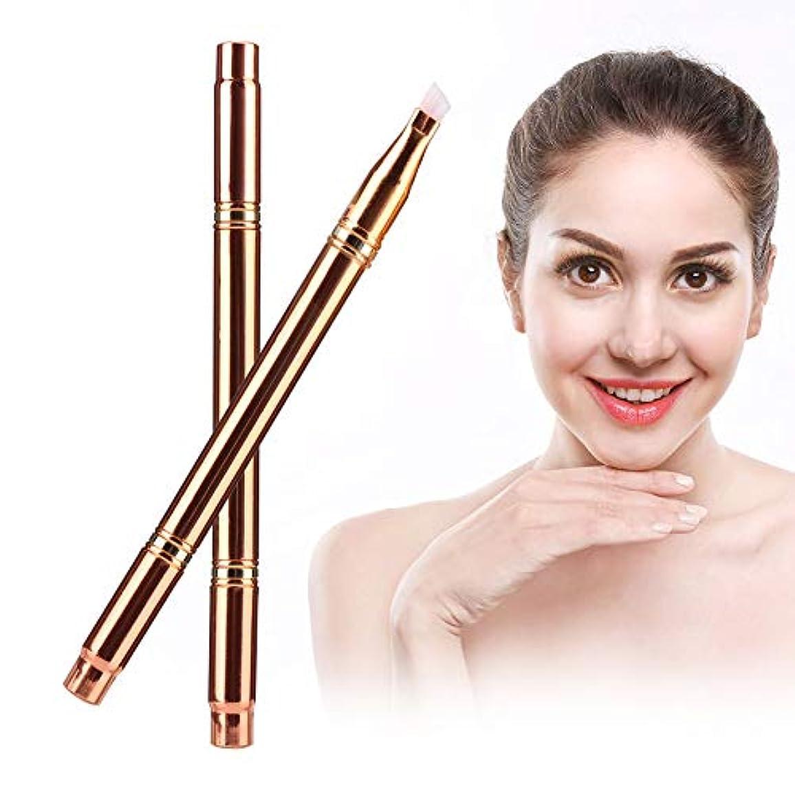 多機能ポ ータブル 化粧ブラシ 眉毛リップハイライト 化粧道具(02)