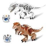ティラノレックス インドミナス 恐竜 ブロック 大型 2体セット ミニフィグ2体付き [並行輸入品]