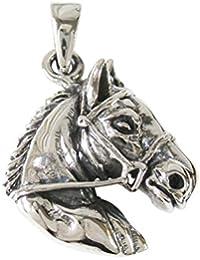0001PPP/ホースペンダント(5)/【メイン】シルバー925銀?ネックレス?動物?馬