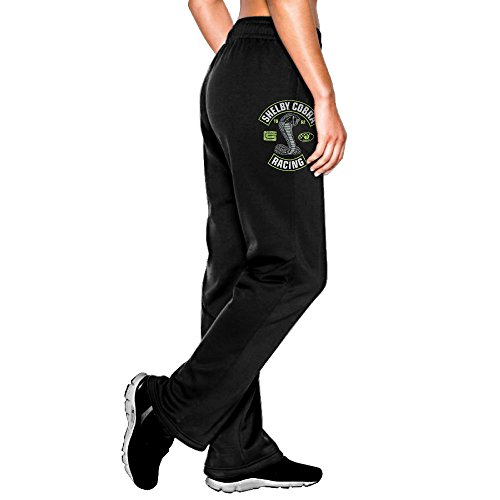 女性 ファッション スウェットパンツ エーシーコブラ カジュアル ジョギング パンツ Black