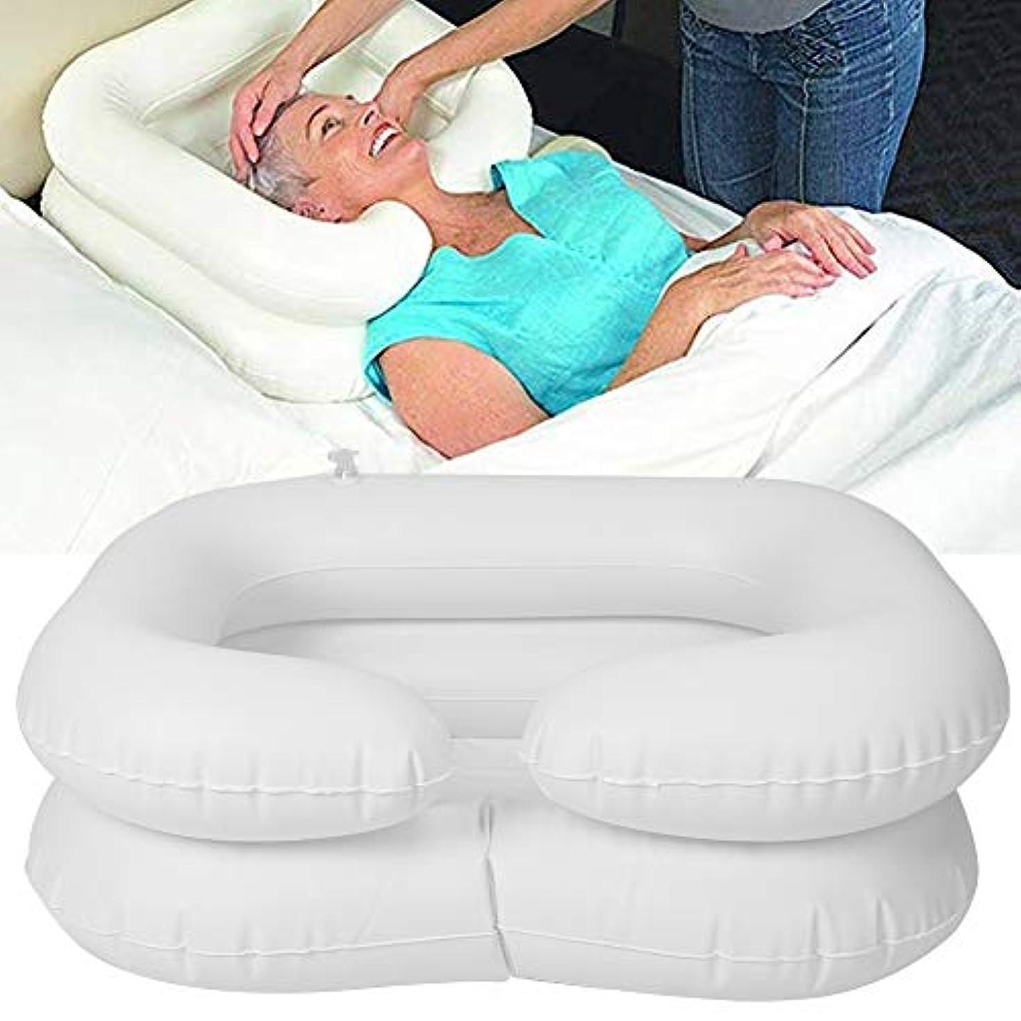 花弁伝染病体操シャンプー洗面器、身体障害者用ベッドサイドシャワーシステム、高齢者寝たきり、ベッドに閉じ込められた人々のためのオーバーヘッドシャワー、ウォーターバッグ