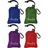 ChicoBag Original Reusable Shopping Tote/Grocery Bag (Variety - Blue, Green, Purple, and Red) by ChicoBag
