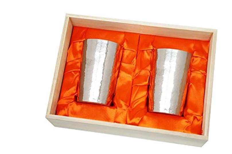大声で最大化する助けになるHORIE(ホリエ) 新潟県燕産 チタン2重タンブラー 窯創り ライト 270cc 磨き 銀 2個セット T09KM270MGSVSET