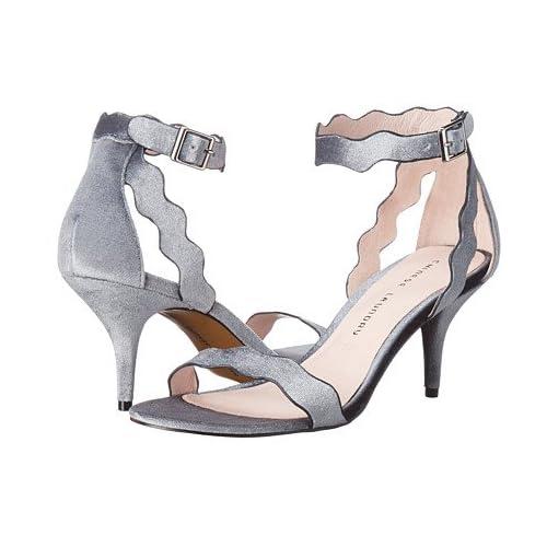 (チャイニーズランドリー)Chinese Laundry レディースサンダル・靴 Rubie Scalloped Sandal Steel Blue Rich Velvet 11 28cm M [並行輸入品]
