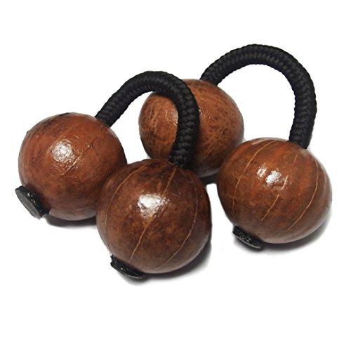 アフリカ セネガル産 アサラト ケセンケセン パチカ 2コセット 両手用 楽器 民芸品 アフリカ雑貨 (Mサイズ,ニスあり)