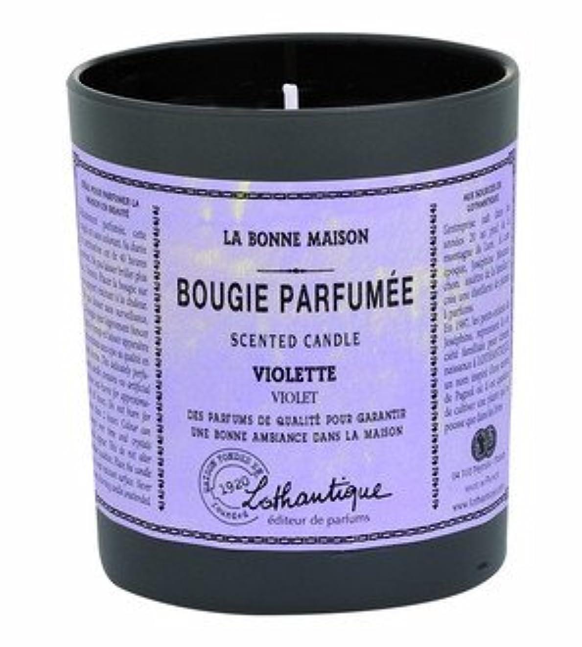 カジュアルマイル従事するLothantique(ロタンティック) LES Bonne Maison(ボンメゾンシリーズ) グラスキャンドル 160g 「ホワイトティー」 3420070039446