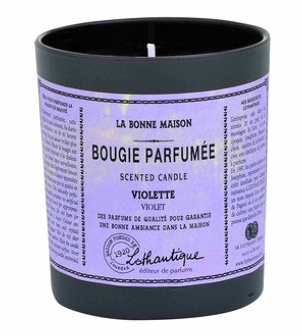 扇動釈義餌Lothantique(ロタンティック) LES Bonne Maison(ボンメゾンシリーズ) グラスキャンドル 160g 「ホワイトティー」 3420070039446