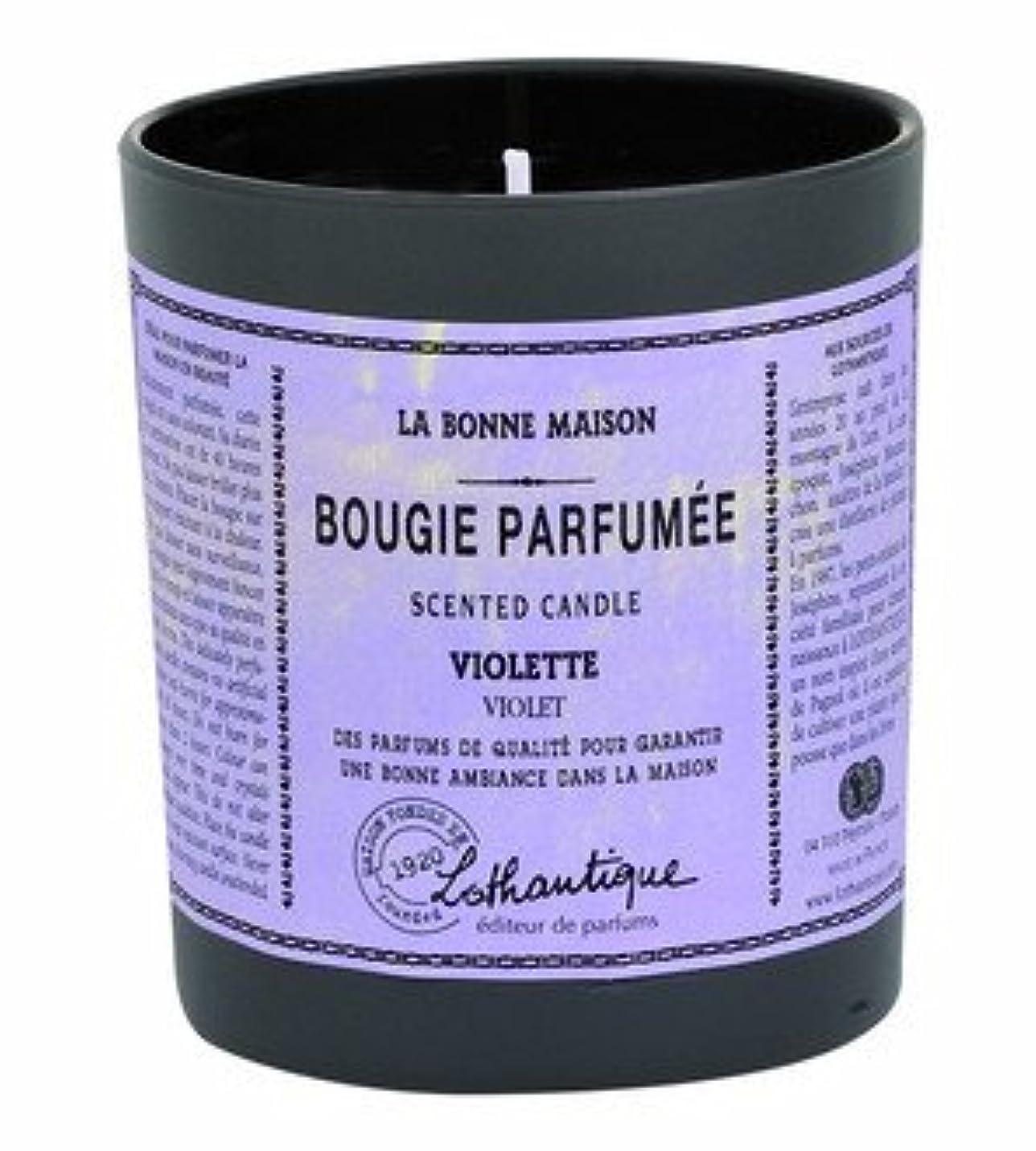 処方する黙認するフィッティングLothantique(ロタンティック) LES Bonne Maison(ボンメゾンシリーズ) グラスキャンドル 160g 「グレープフルーツ」 3420070039453