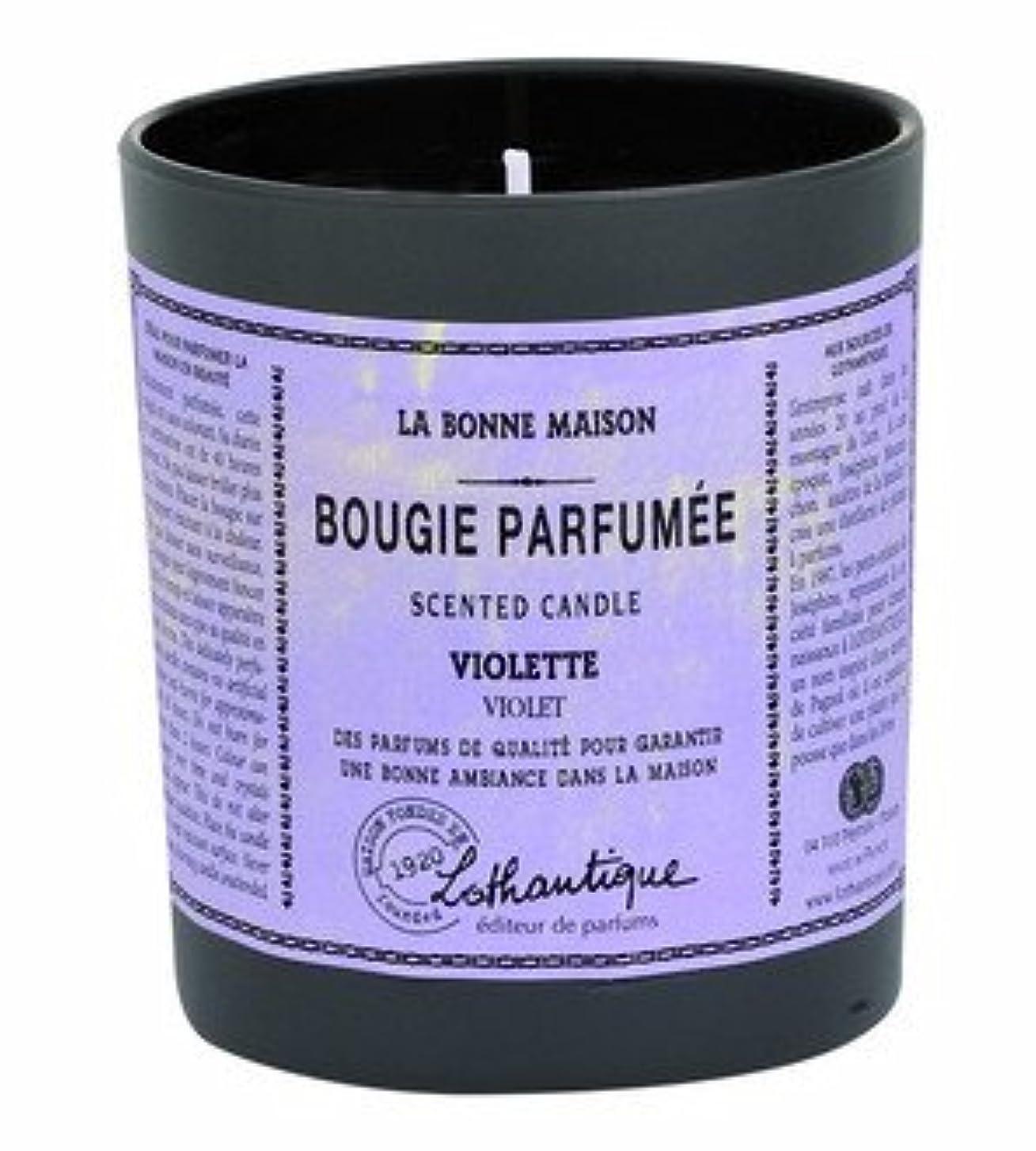 近く雪だるまを作るロゴLothantique(ロタンティック) LES Bonne Maison(ボンメゾンシリーズ) グラスキャンドル 160g 「サンダルウッド」 3420070039408