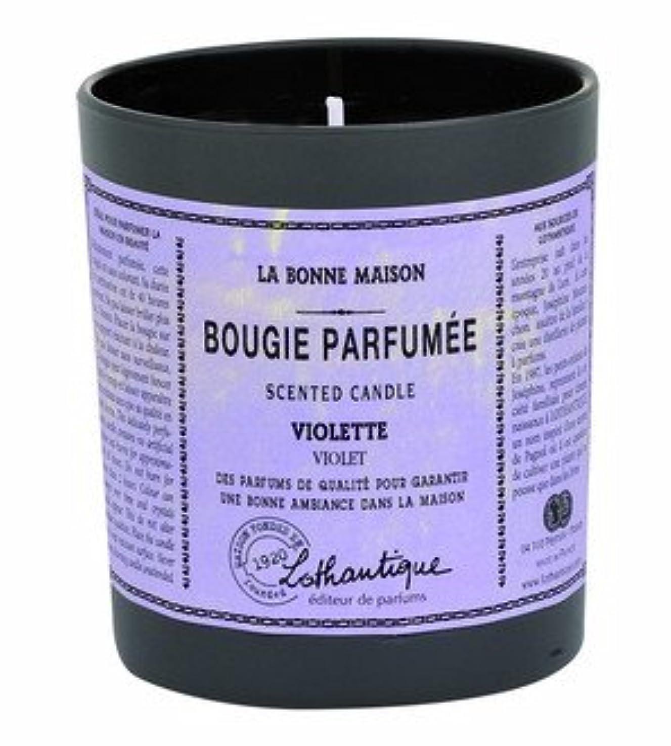 ビジターブルジョンスキャンダラスLothantique(ロタンティック) LES Bonne Maison(ボンメゾンシリーズ) グラスキャンドル 160g 「ホワイトティー」 3420070039446