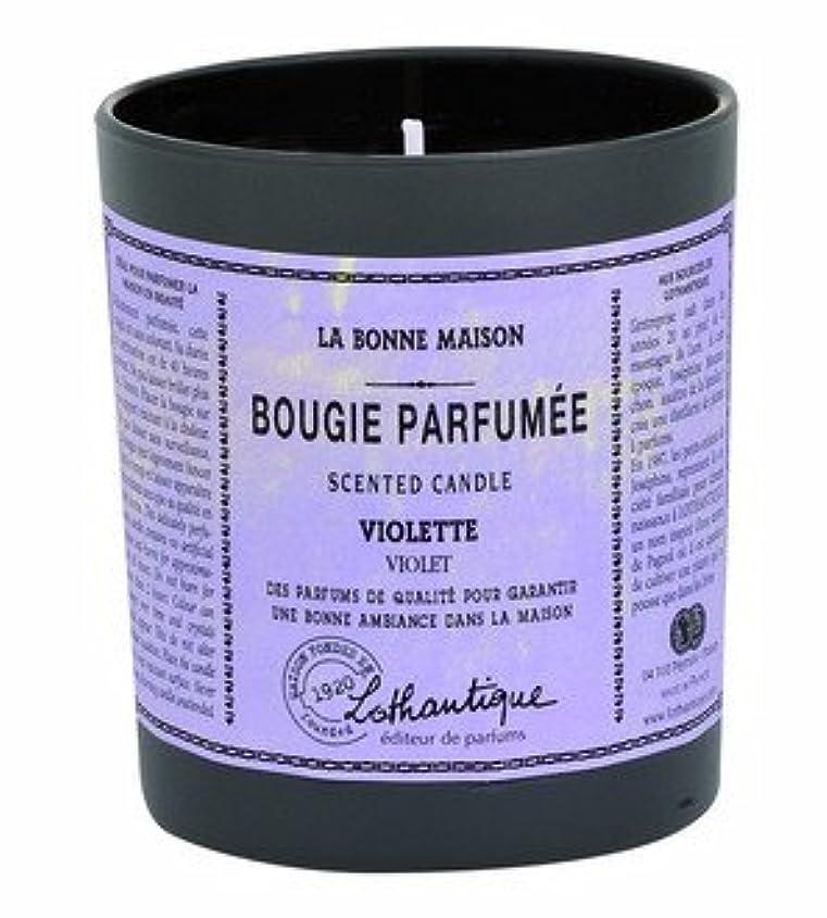 メタルライン一時停止チャンバーLothantique(ロタンティック) LES Bonne Maison(ボンメゾンシリーズ) グラスキャンドル 160g 「サンダルウッド」 3420070039408