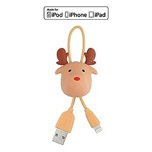 Omars(Apple MFI認証) lightning USB ケーブル サンタクロースケーブル (エルク)クリスマスギフト