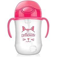 Dr。ブラウンの – 9オンス赤ちゃんの最初のストローカップピンク