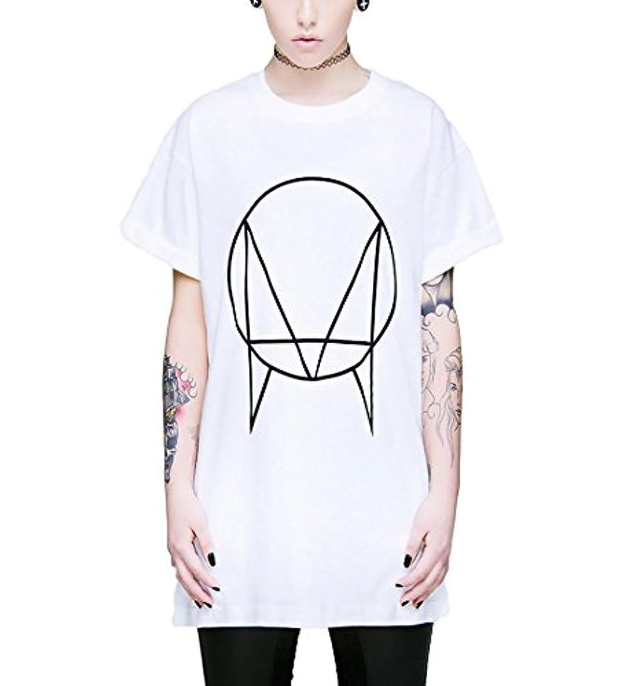 ノベルティ震える連邦LONG CLOTHING ロングクロージング owsla tシャツ ホワイト コラボtシャツ ビックtシャツ ルーズフィット