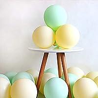 ブライダルシャワーの誕生日Bollons | 20枚マカロンバルーン第一ハッピーバースデージュエリー最初の誕生日少年少女のパーティー子供大人の赤ちゃん一年の誕生日装飾21 40、黄緑