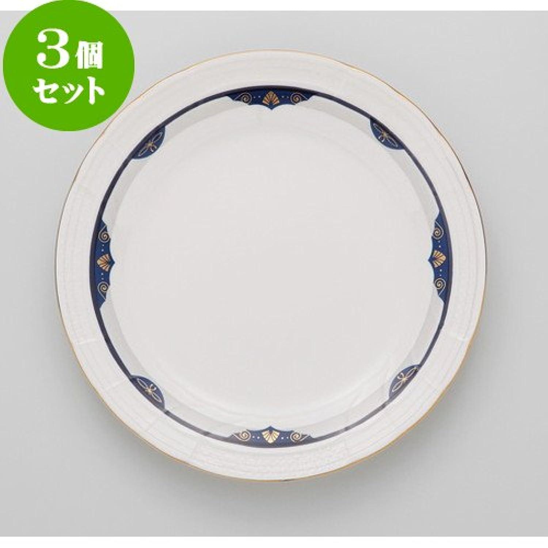 3個セットネージュブルー 10吋ディナー [ 25.9 x 2.5cm 810g ] 【 ディナープレート 】 【 ホテル レストラン 洋食器 飲食店 業務用 上品 】