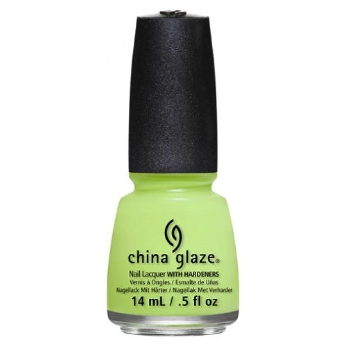 サージご近所悩むCHINA GLAZE Nail Lacquer - Art City Flourish - Grass Is Lime Greener (並行輸入品)