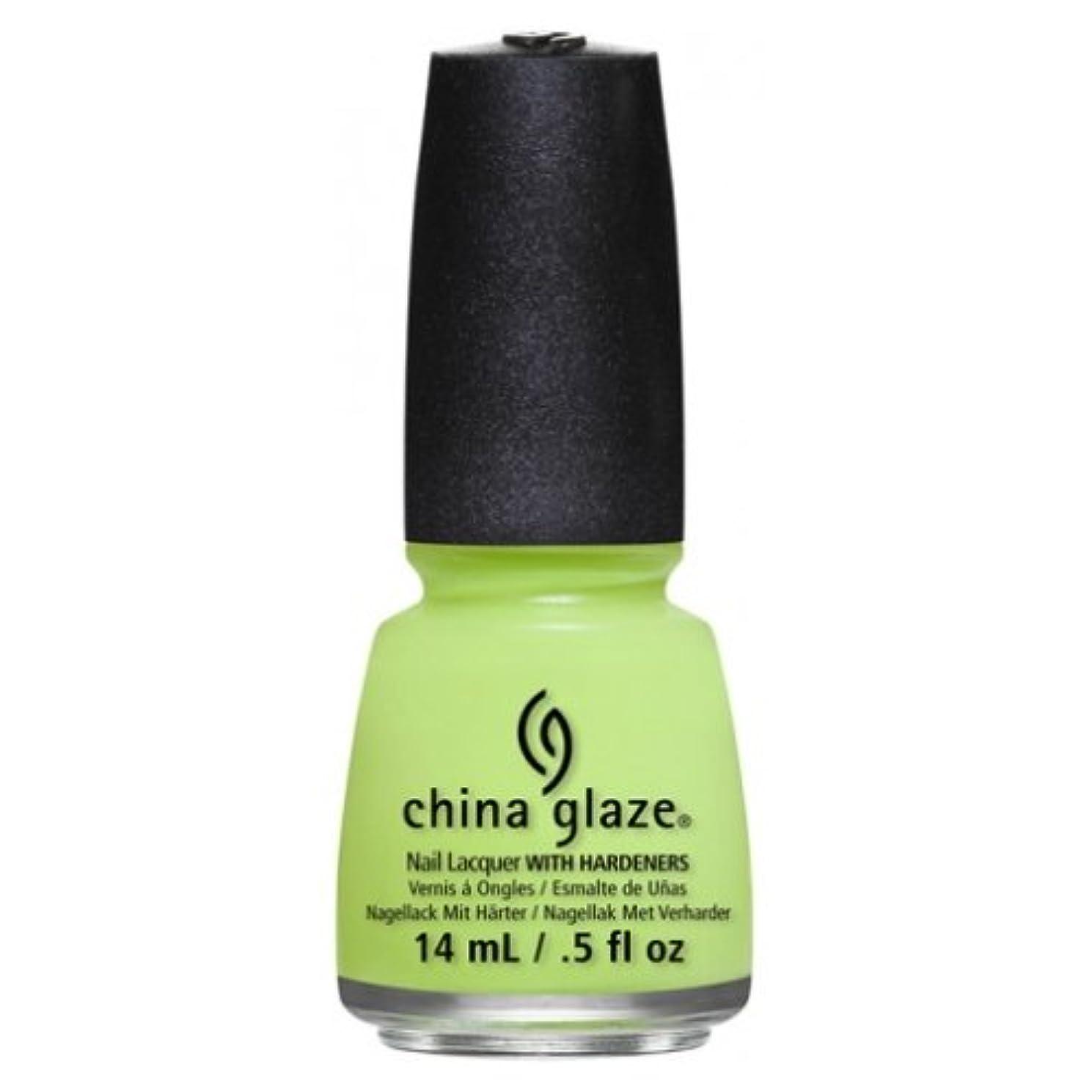 疑わしい西チラチラするCHINA GLAZE Nail Lacquer - Art City Flourish - Grass Is Lime Greener (並行輸入品)
