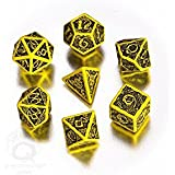 Celtic 3D Dice Yellow/Black (7) [Import anglais]