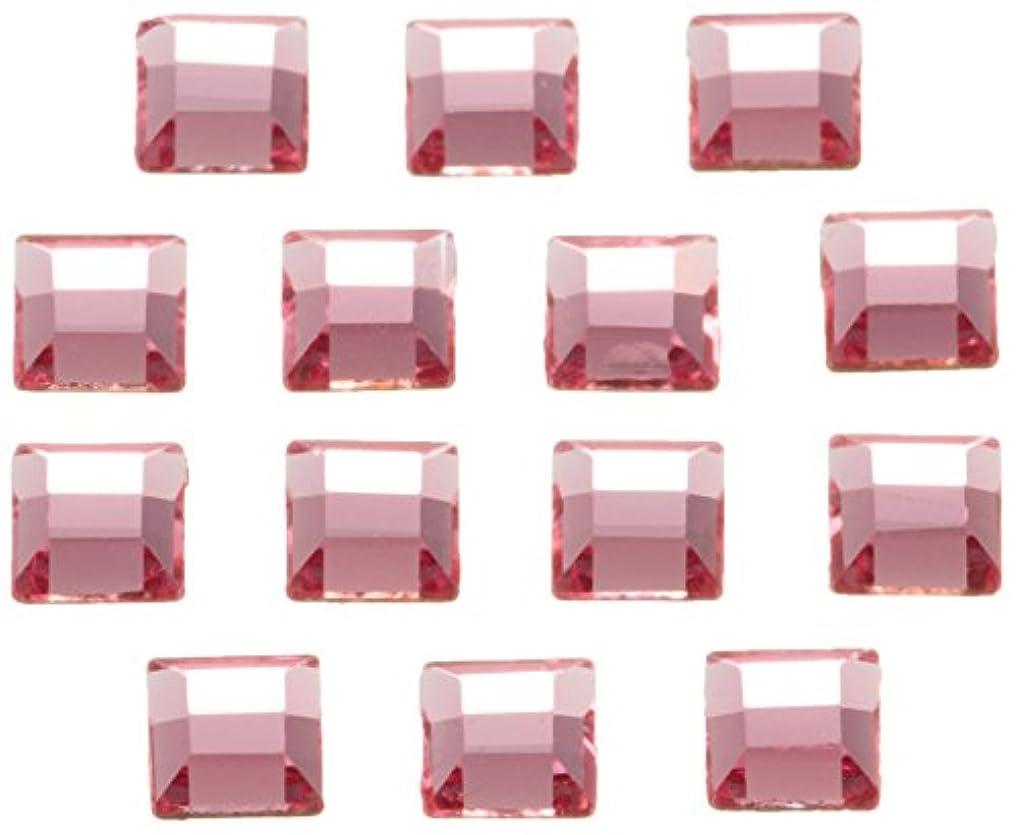ママ抗生物質夜明けSWAROVSKI ネイルアートパーツ スクエア型ライトローズ 3.0mm 36P