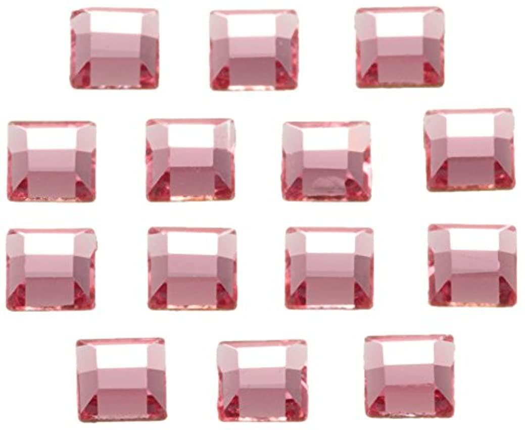 バルセロナ結核凍結SWAROVSKI ネイルアートパーツ スクエア型ライトローズ 3.0mm 36P
