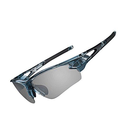 ROCKBROS(ロックブロス)調光サングラス 偏光 スポーツサングラス 偏光レンズ 軽量 メンズ TACレンズ &TR90フレーム UV400 近視インナーフレーム付