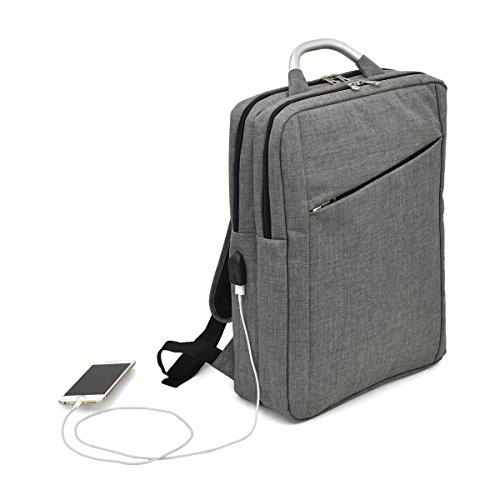 ビジネス リュック 2ルーム USBポート付き[プレックス]リュックサック B4 サイズ対応 15インチ パソコン 男女兼用