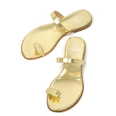 il Sandalo【イル サンダロ】サムループサンダル 170107 GOLD/CRYSTALL STRASS LAMINATE platin GOLD ゴールド (34)