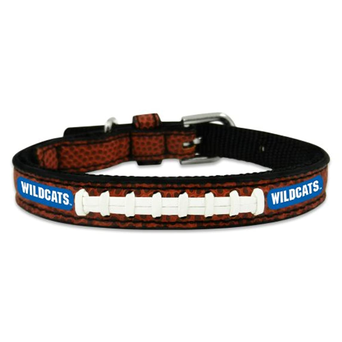 大胆男練習したKentucky Wildcats Classic Leather Toy Football Collar