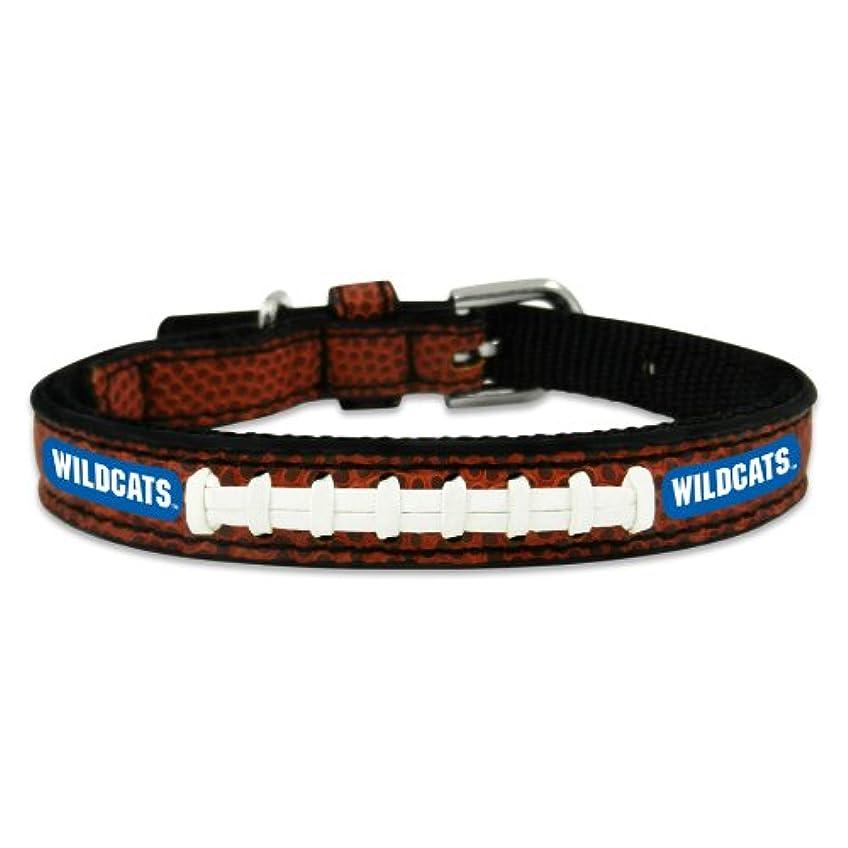不平を言う昼寝電圧Kentucky Wildcats Classic Leather Toy Football Collar