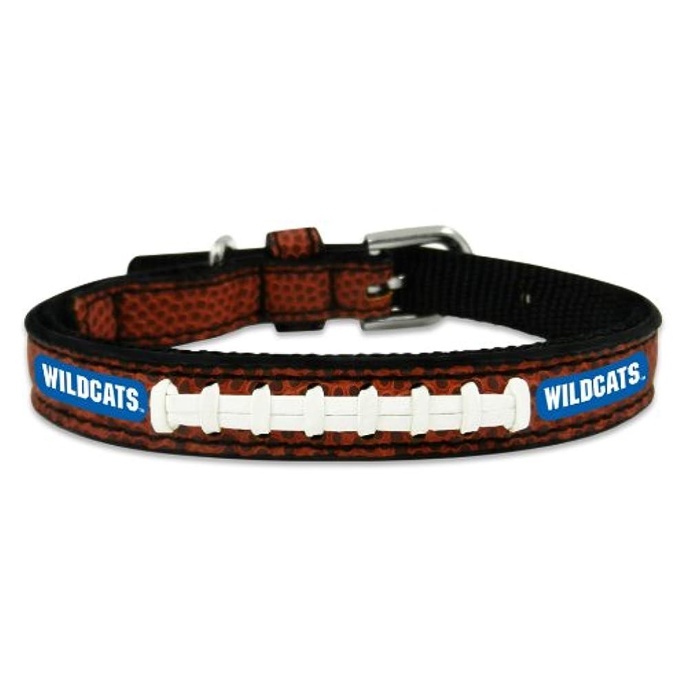 驚お父さん魅了するKentucky Wildcats Classic Leather Toy Football Collar