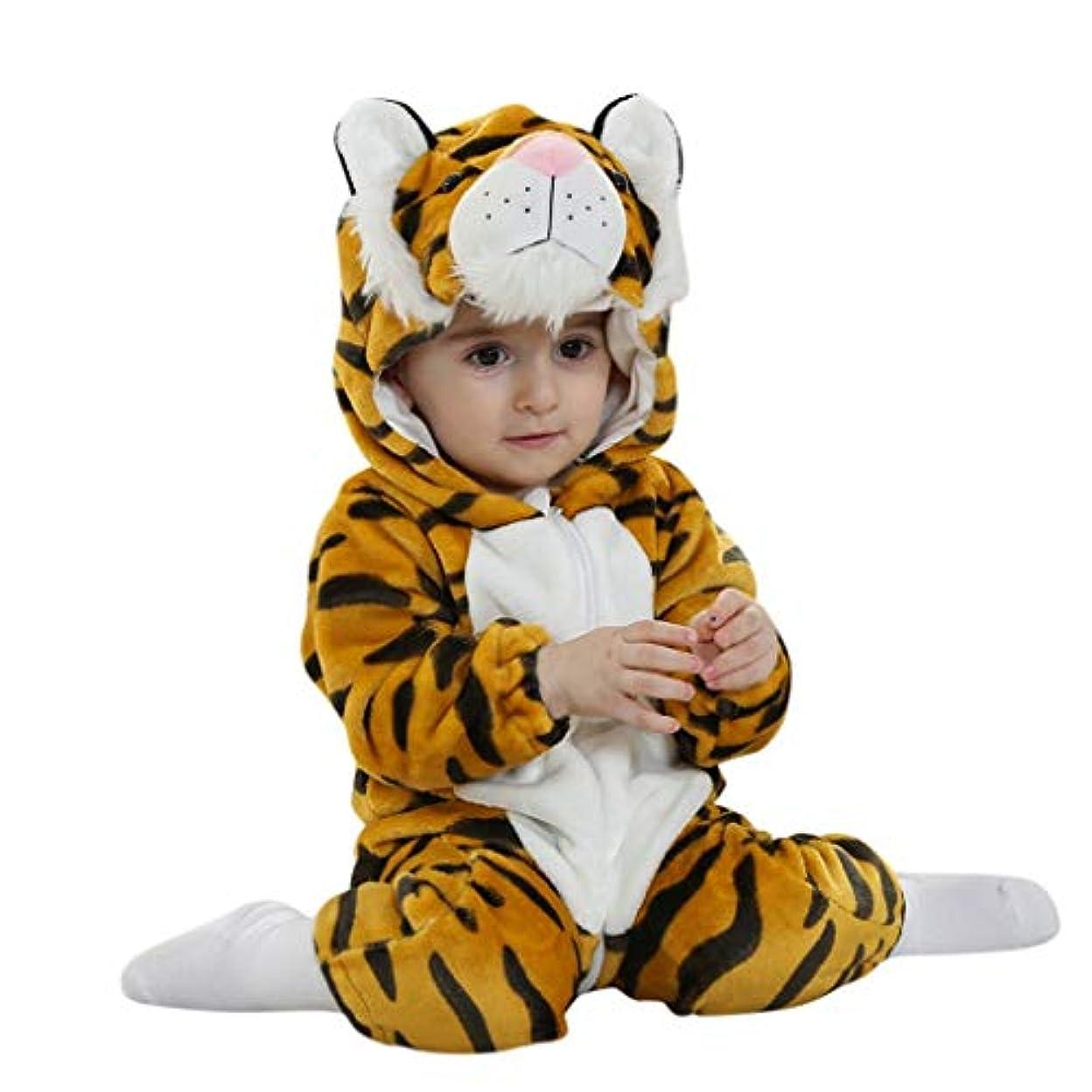 勝つミリメートル一元化するMISFIY 赤ちゃん ベビー服 着ぐるみ カバーオール ロンパース ぬいぐるみ キッズ コスチューム タイガー 防寒着 パジャマ 男の子 女の子 出産祝い もこもこ かわいい カジュアル おしゃれ 柔らかい