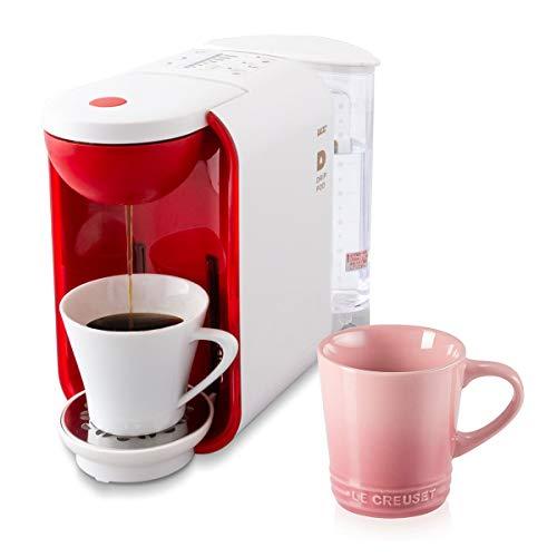 【セット品】UCCコーヒーメーカー [ドリップポッド]本格 ドリップコーヒー カプセル式 (ホワイト×レッド) + ル・クルーゼ マグカップ ローズクォーツ 350ml