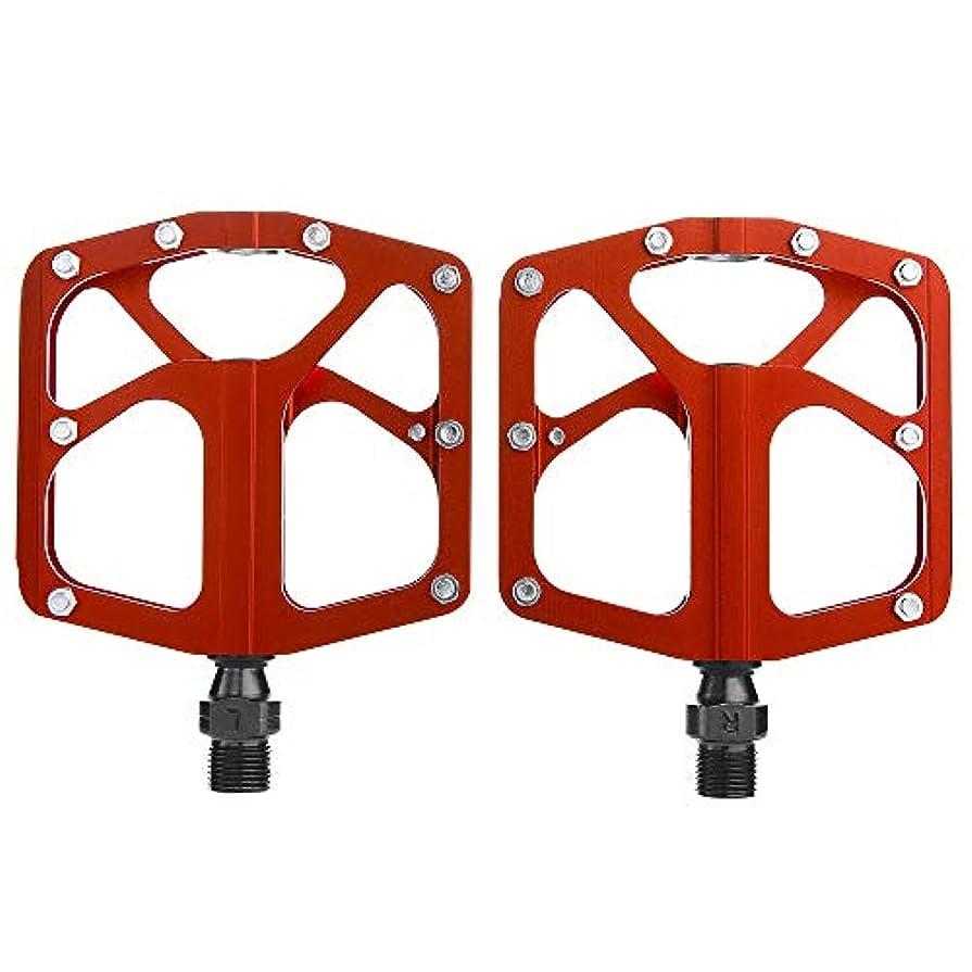疑いパニックパニックRakuby 軽量 バイクペダル 合金 プラットフォームペダル 4ベアリング MTBロード バイク サイクリングペダル Cr-Mo スチール アクスル