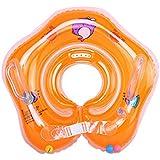 sunite ベビー用 浮き輪 お風呂 うきわ首リング 赤ちゃんのトレーニングに 調節ベルト付き PVC