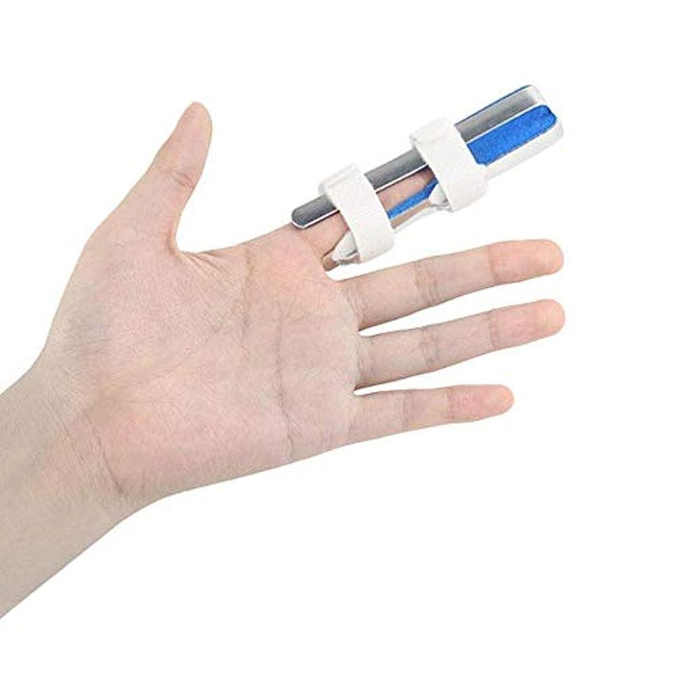 弾力性のある協力するコマース指の損傷のサポート、アルミニウム指骨折固定スプリントリハビリテーショントレーニング関節炎圧力痛みの軽減,4.3CM