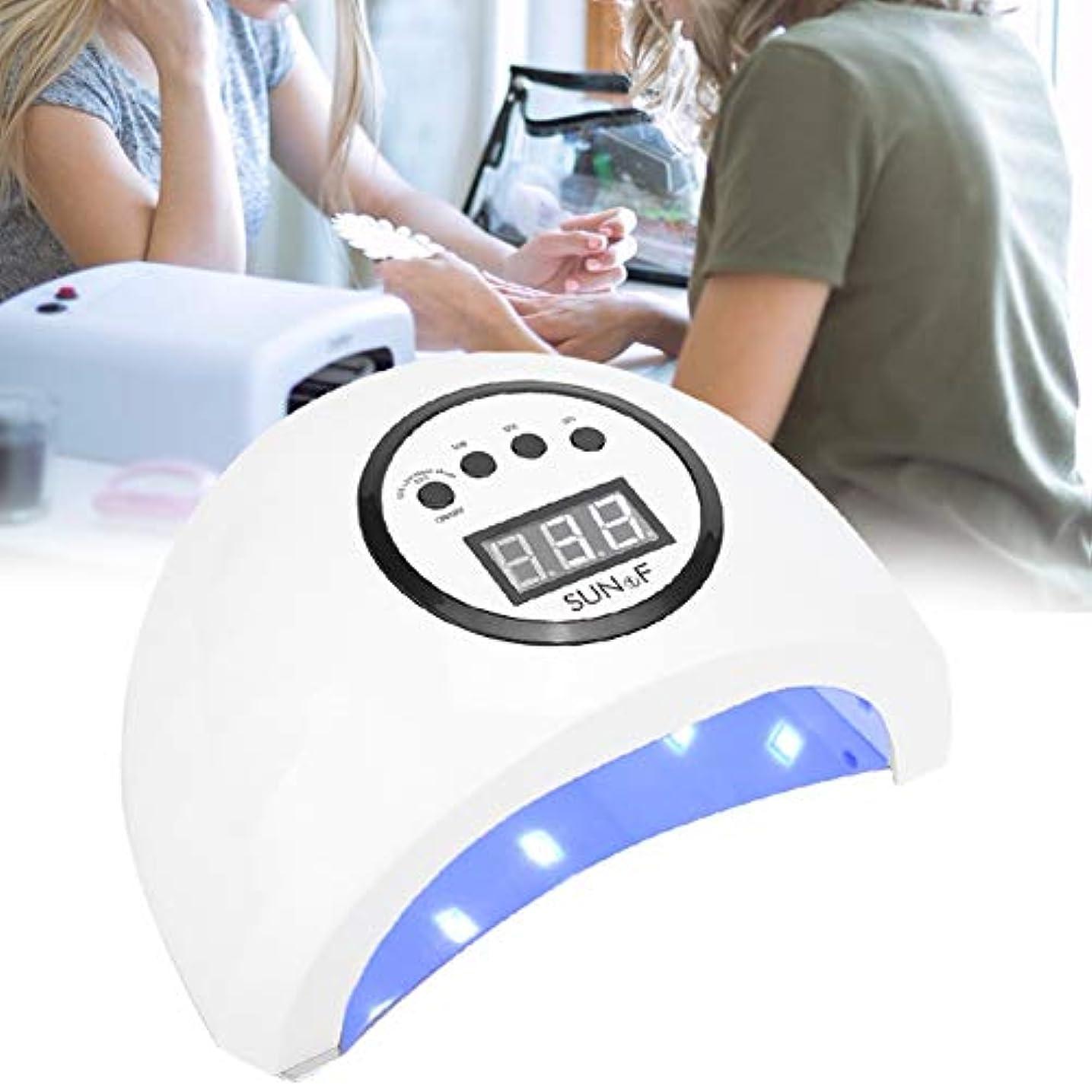 インディカ踏みつけ称賛48W LEDネイルランプ、ジェルネイルポリッシュドライヤー、クイックドライネイルマシン(米国)