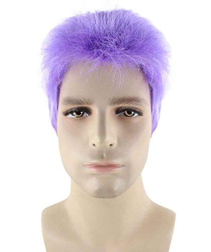 Wigs2you 仮装 ウィッグ H-2297 紫 パープル メンズ ショート フルウィッグ コスプレ かつら 女装 男装 双子コーデ パーティーウィッグ スタンダード Mサイズ
