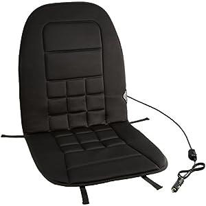 Amazonベーシック ホットカーシート 12V 黒 二段階温度切り替えコントローラー付き 座席ヒートクッション シートヒーター