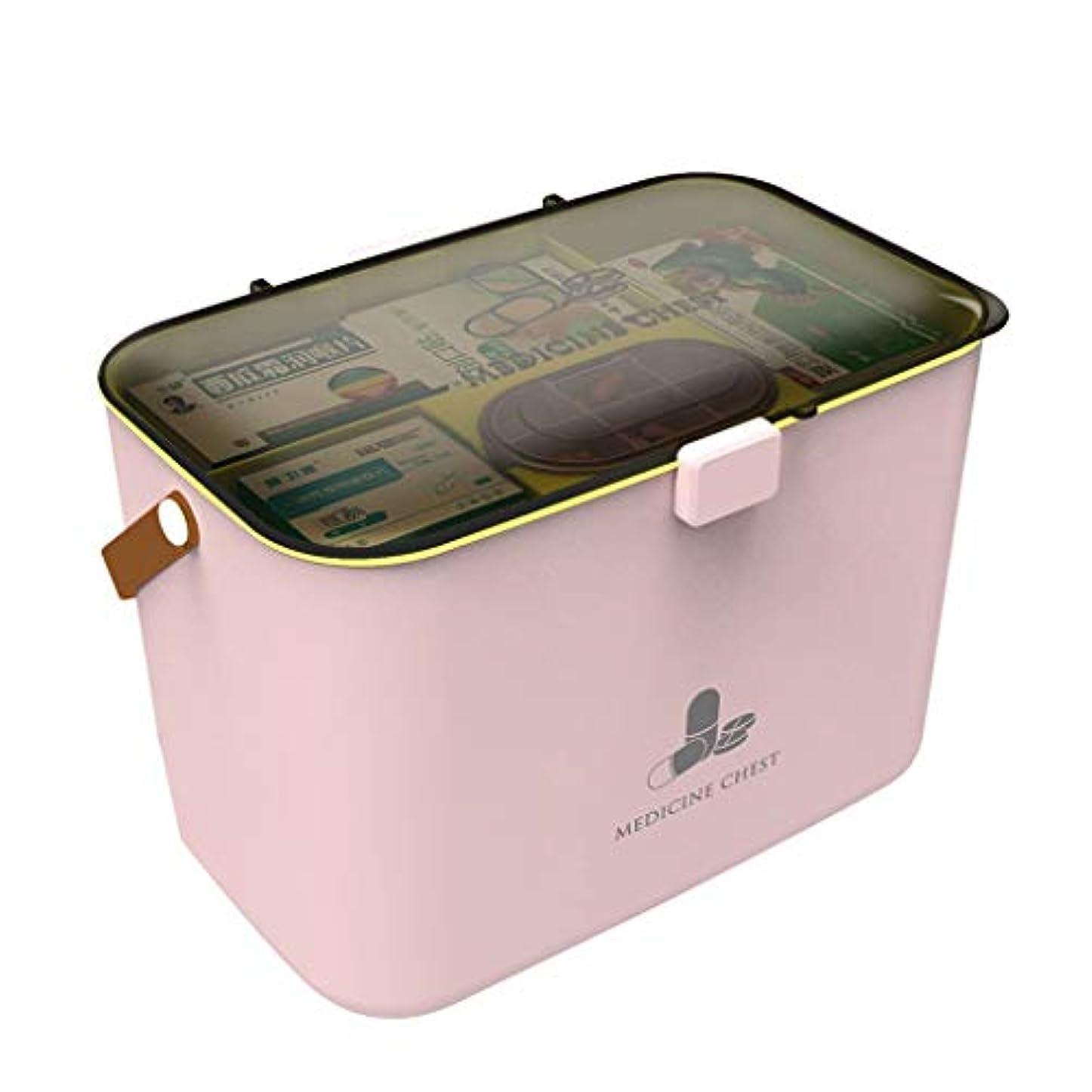 トロリーバス処分したつかいます薬箱家特大容量救急箱赤ちゃん赤ちゃん薬収納ボックススーパー HUXIUPING (Color : Pink)
